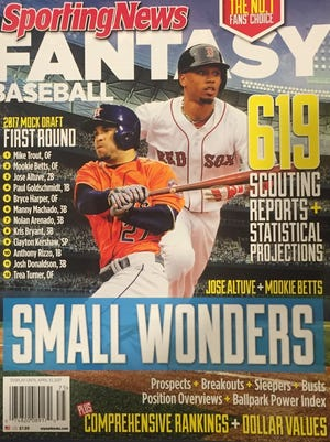 Former Overton star Mookie Betts is on the cover of Sporting News Fantasy Baseball.