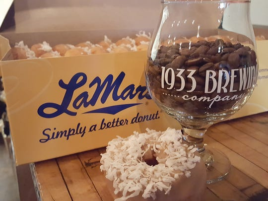 1933 Brewing collaborated with LaMar's Donuts, a company founded in 1933, on a new doughnut-inspired beer.