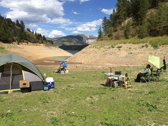 Patrick Durkin's elk camp is about an hour hike and