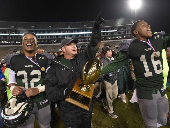 West Point head coach Chris Chambless and the Green