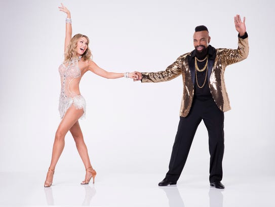 Mr. T, right, will dance with pro partner Kym Herjavec