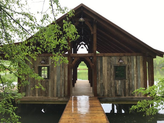 Knoxville business DOCK & DECK built this dock and
