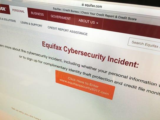 Photo of Equifax website. [Via MerlinFTP Drop]