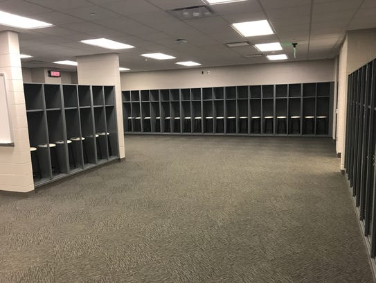 Michigan State's visitors locker room completed in