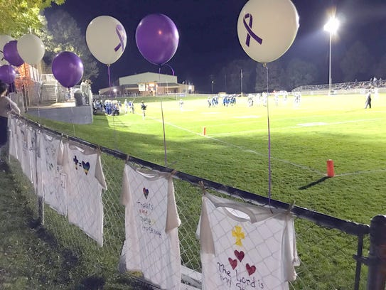 The field was decorated for the special recognition