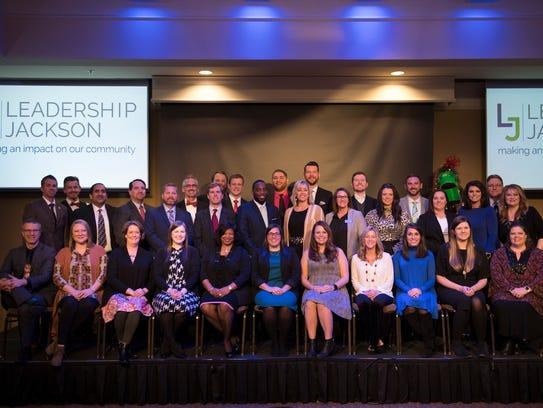 Jackson ChamberÕs 2017 Leadership Jackson class poses