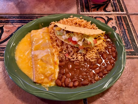 The taco and enchilada plate at Carlito's in Burkburnett