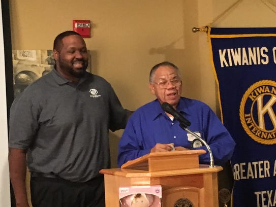 Nelson Wilson (right), of the Kiwanis Club of Greater