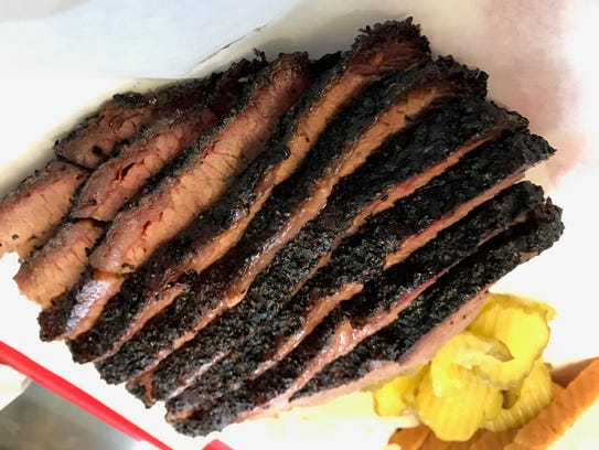 The brisket from Desert Oak Barbecue is juicy and tender,