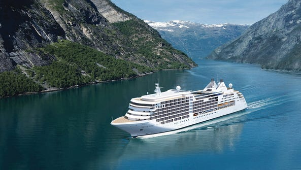 An artist's rendering of Silversea's new Silver Muse,