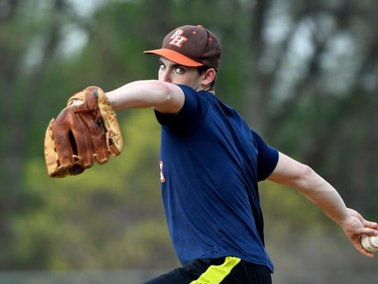 Pascack Hills pitcher Jack Brodsky. Photographed in