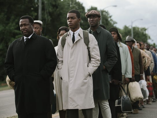 Wendell Pierce (far left) plays Rev. Hosea Williams