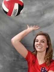 All-Midstate volleyball player Halli Hedninger, Brentwood Academy Thursday Nov. 16, 2017, in Nashville, TN