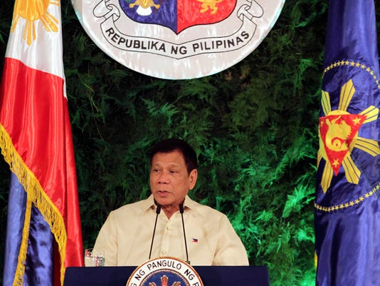 EPA PHILIPPINES PRESIDENTIAL INAUGURATION DUTERTE POL GOVERNMENT PHL MA