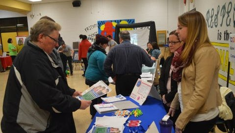 Parents connect with vendors at Deptford Schools' 2015 special needs resource fair.