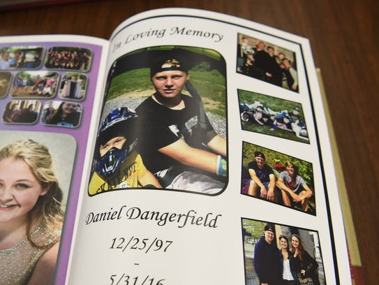 An in memoriam page for Daniel Dangerfield in the 2016