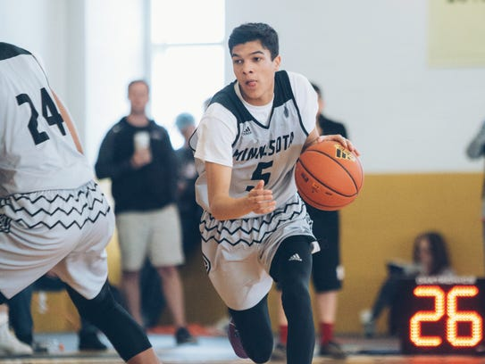 Tyrell Terry drives the ball during one of D1Minnesota's