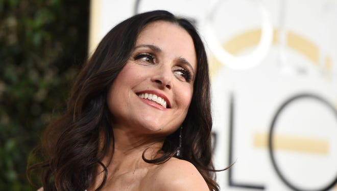 Julia Louis-Dreyfus arrives at the 74th annual Golden Globe Awards on Jan. 8, 2017, in Beverly Hills, California.