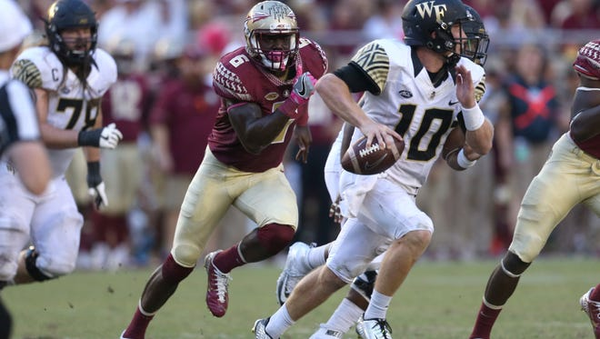 Florida State linebacker Matthew Thomas and the Seminoles are at home Friday night against Boston College.