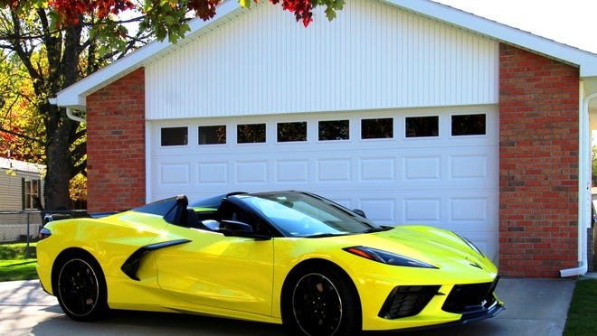 This is the actual 2020 Corvette Convertible tested delivered in Accelerate Yellow. It is one of the first convertibles in the media carpool.