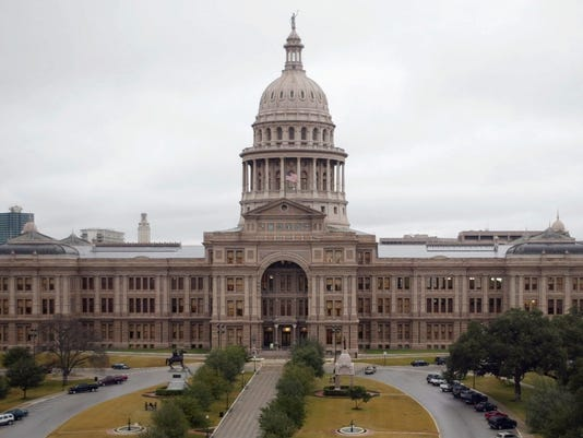 The Texas Capitol is viewed from its south side on Wednesday, Jan. 5, 2005, in Austin, Texas. The 79th Texas Legislature is set to begin at noon on Tuesday, Jan. 11. Regular sessions are scheduled to run for 140 days every two years.(AP Photo/Harry Cabluck)