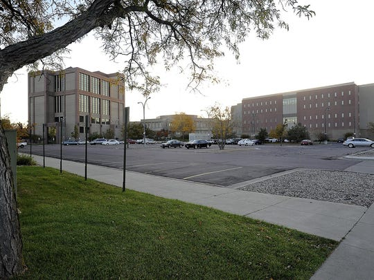 The jail expansion will go in the parking lot south of Fourth Street between Minnesota and Main Avenue in Sioux Falls.