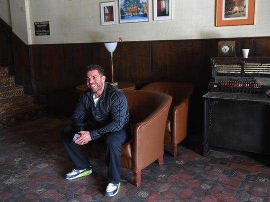 Developer Stephen Siegel sits inside the Siegel Cortez and Courtyard that he is renovating in dowtown Reno on Jan 21, 2015.