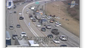 Screen grab shows the site of the suspects' crash on I-70.