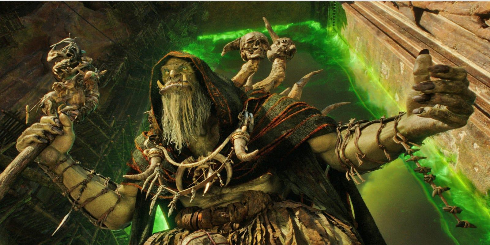 Meet The Warcraft Warriors Daniel Wu Conjures Orc Warlock Gul Dan