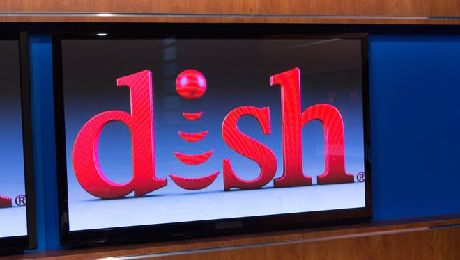The Dish Network sign at their Engelwood , Calif., headquarters.