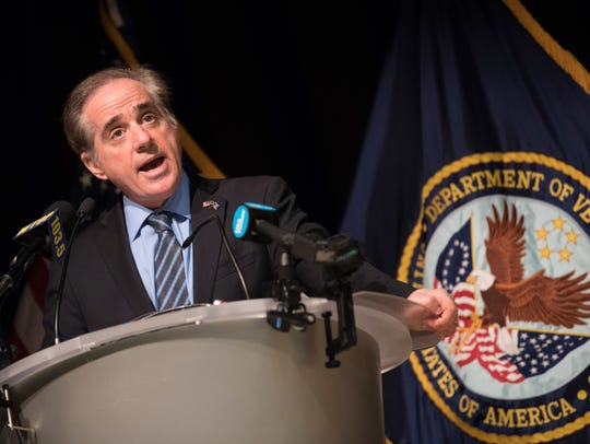 VA Secretary David Shulkin holds a press conference