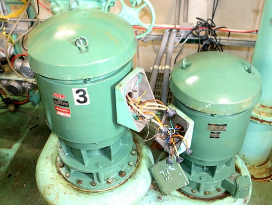 Corrosion in six pumps in the City of Dover's Pump