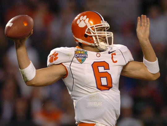 Clemson's Charlie Whitehurst passes against Colorado