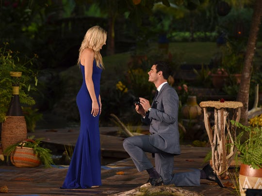 "Ben Higgins and Lauren Bushnell on ""The Bachelor"""