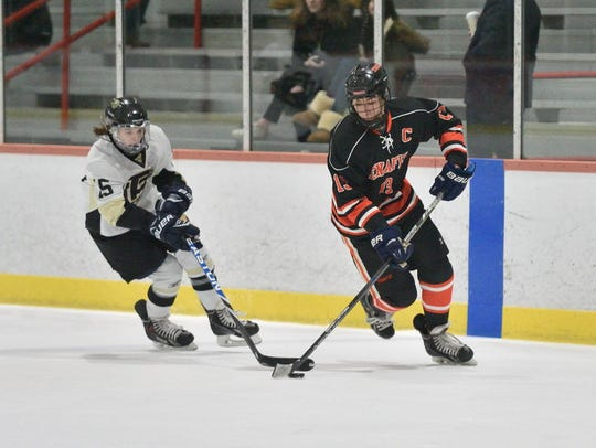 In this January 2017 game, Tenafly's Nic L'Heureux,