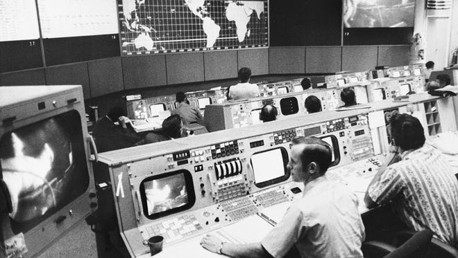 Mission Control in Houston.