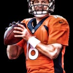 """Peyton Manning would be the full focus of Super Bowl 50 – if it weren't for the emergence of the Carolina Panthers' Cam Newton. """"His talent, his personality is like nothing we've seen in the NFL,"""" Super Bowl announcer Phil Simms said."""