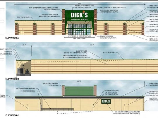 An artist's rendering of the proposed Dick's Sporting