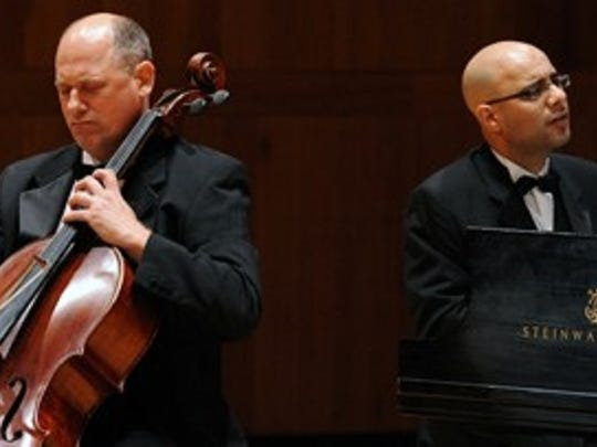 Cellist Paul York and pianist Dror Biran come to the Estero concert series.