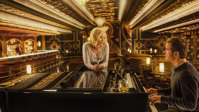 """Jennifer Lawrence and Chris Pratt star in  """"Passengers."""" The movie opens Tuesday at Regal West Manchester Stadium 13, Frank Theatres Queensgate Stadium 13 and R/C Hanover Movies."""