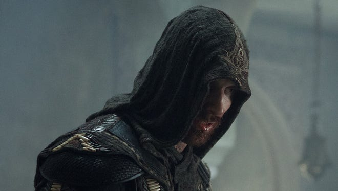 """Michael Fassbender is Callum Lynch in the film """"Assassin's Creed."""" The movie is playing at Regal West Manchester Stadium 13, Frank Theatres Queensgate Stadium 13 and R/C Hanover Movies."""