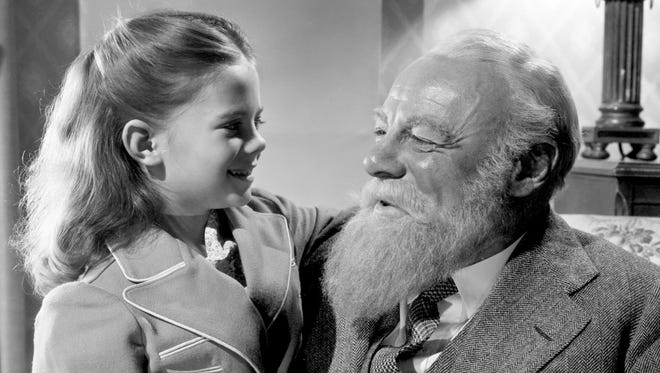 """Natalie Wood and Edmund Gwenn star in the 1947 classic film """"Miracle on 34th Street."""""""