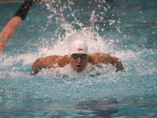 St. Xavier's Nicholas Perera competes in the 200 individual