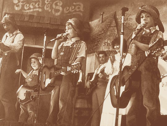 An undated photo shows younger members of the Presley