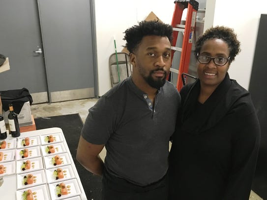 Chef Cedric Andrews and Regina Gaines from House of
