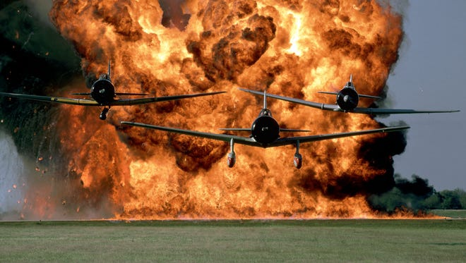 """Pyrotechnic displays provide drama to the """"Tora! Tora! Tora!"""" show that will highlight this year's air show at Dyess Air Force Base."""