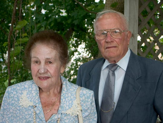 In this 2005 photo, Maria and Hans Weissgerber Sr.,