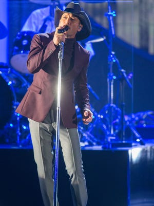 Tim McGraw performs during 'A Very Grammy Christmas' on Nov. 18, 2014 in Los Angeles.