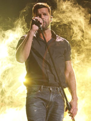 Ricky Martin, rehearsing for the 2015 Premios Lo Nuestros Awards at American Airlines Arena on Feb. 18 in Miami, has joined Simon Cowell's latest talent search.
