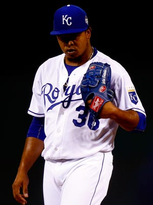 Edinson Volquez started Game 1 for the Royals.
